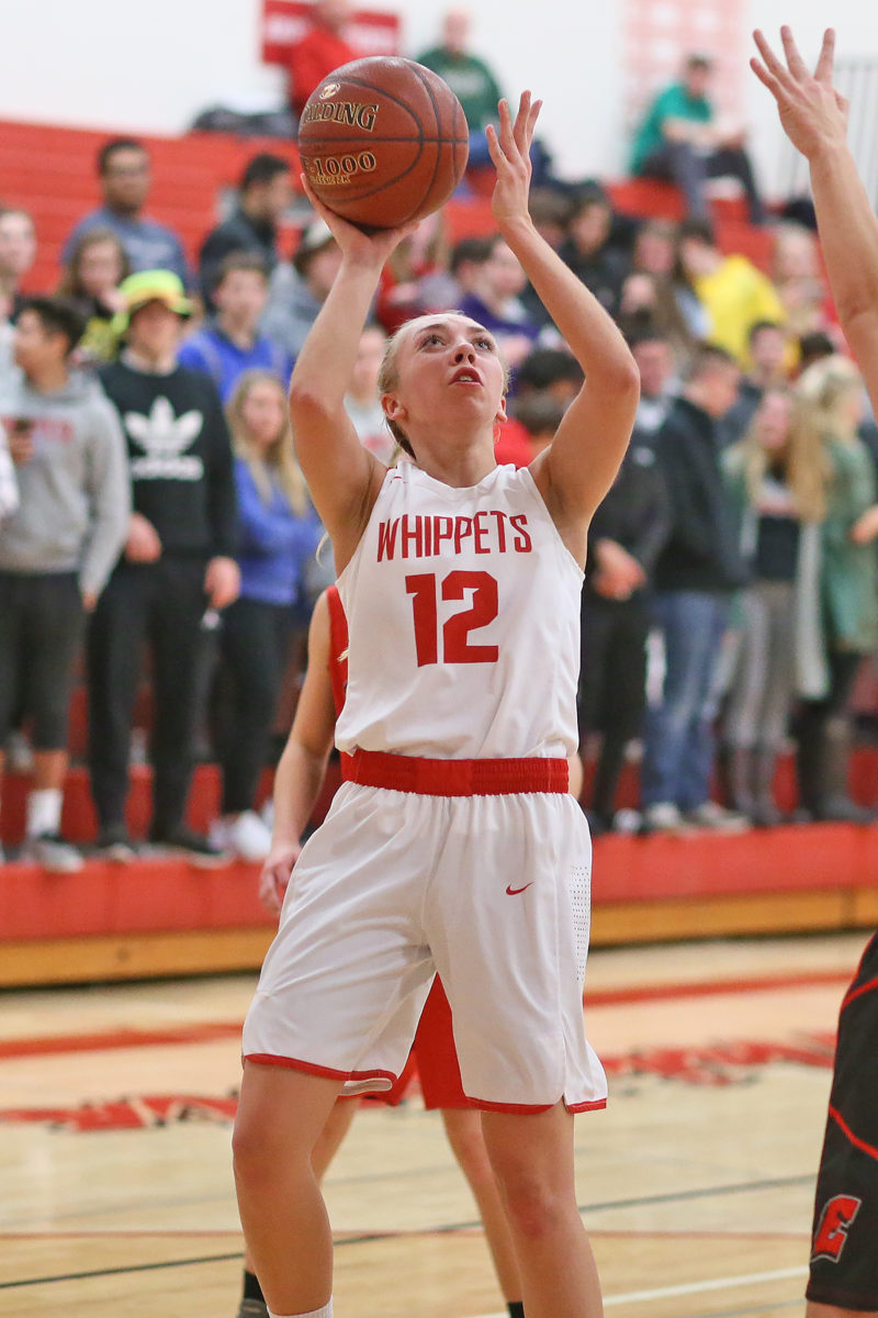 Allison Heckert with 16 points for the Whippets