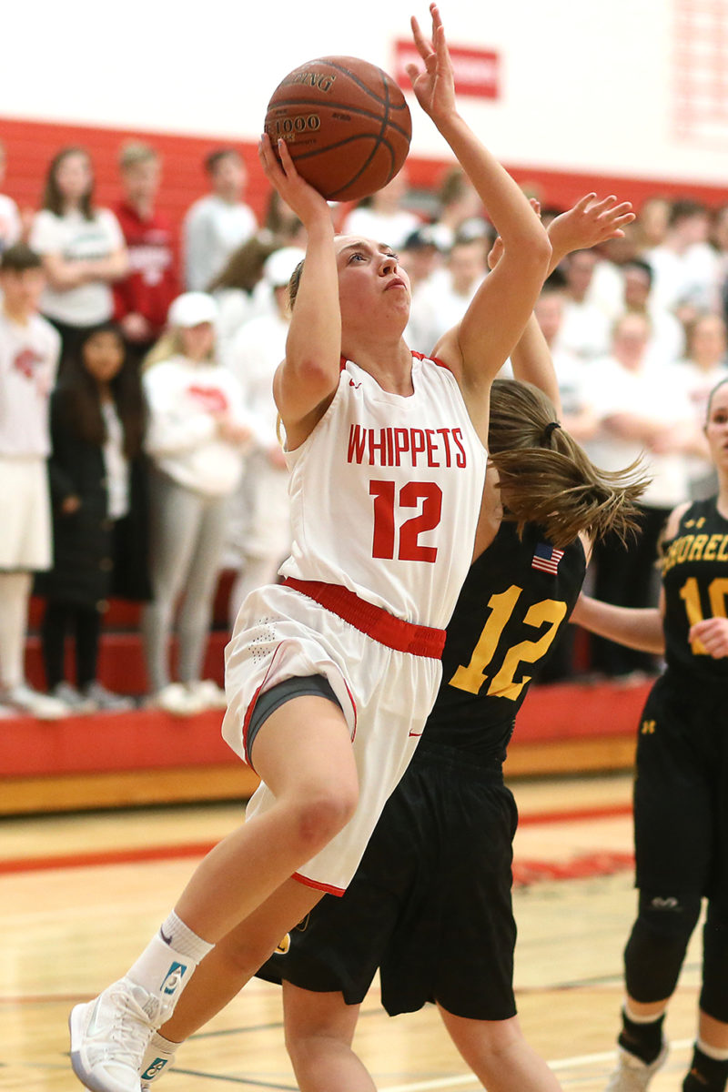 Allison Heckert led the Whippets with 19 points.