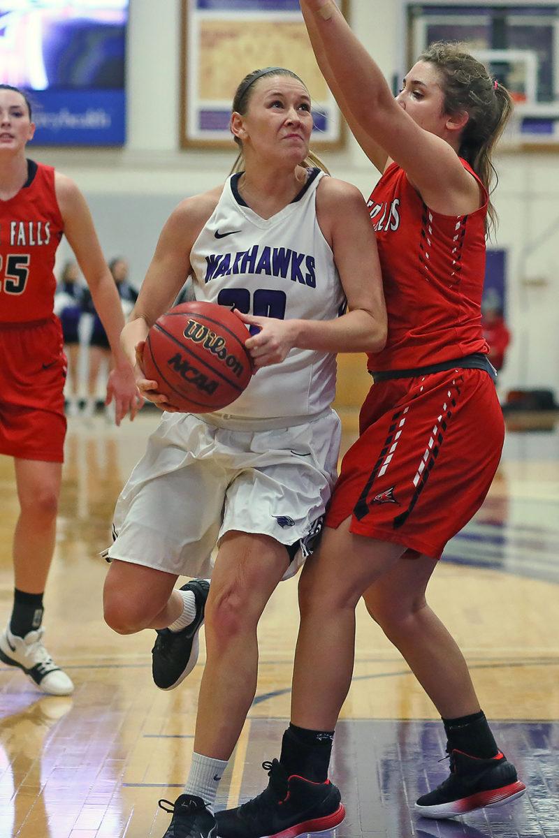 Brooke Trewyn drives to the basket.