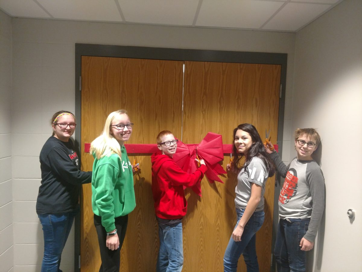 Ribbon Cutting Ceremony for the Art Room