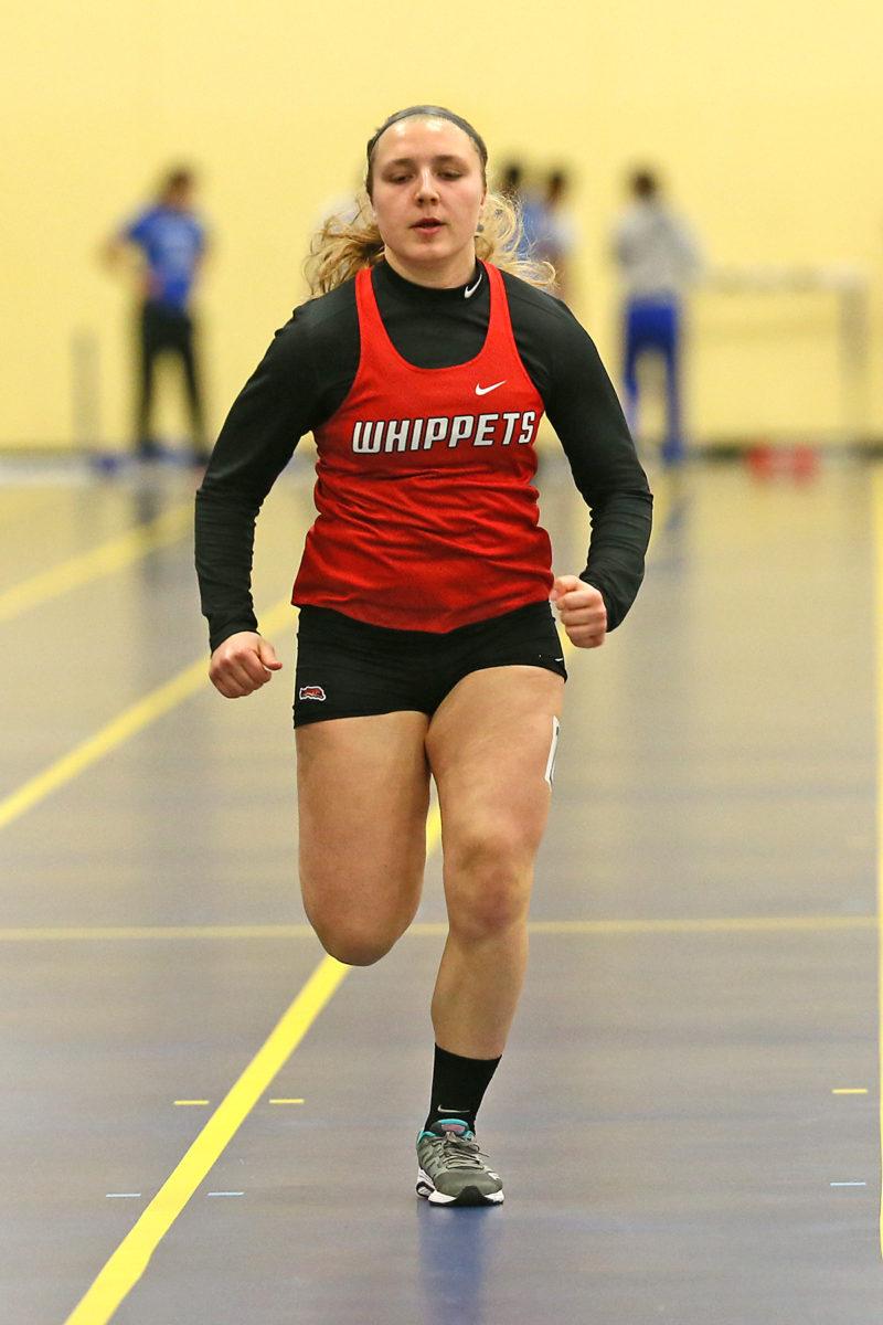Abby Grosinske took 3rd in the 55m.