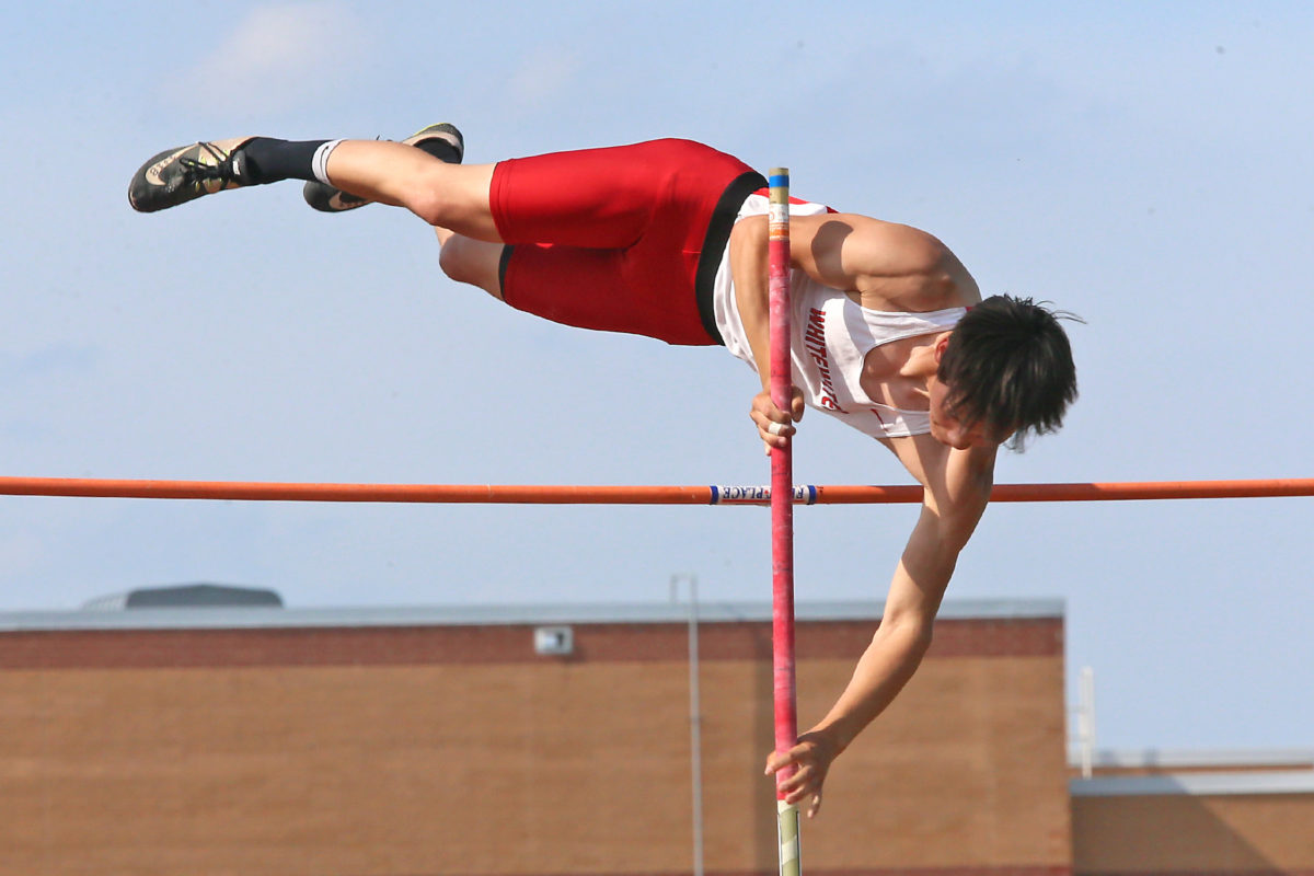 Sashi Popke qualified for state in 4 events, including the pole vault.