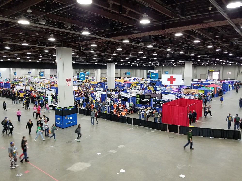 The 405 FRC Pits from Above