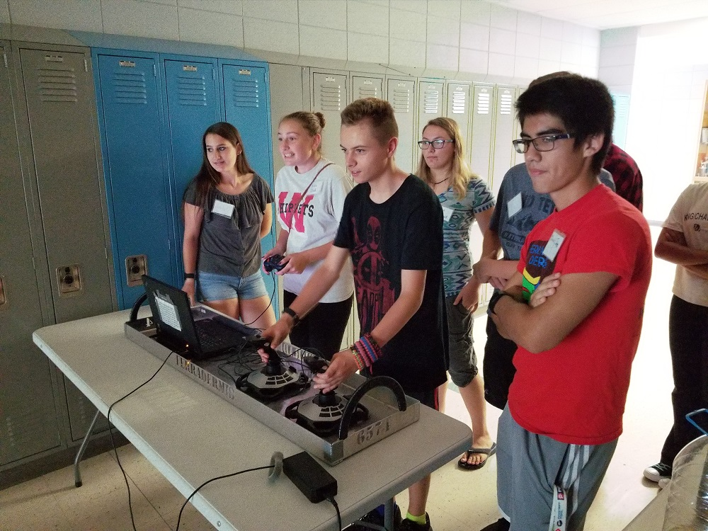 Chance to drive last year's robot