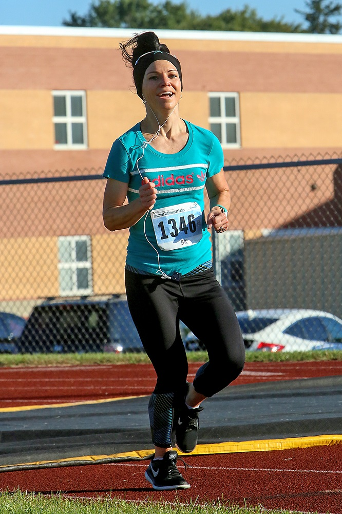 Heidi Mane of Whitewater was the overall female winner in the 5K race