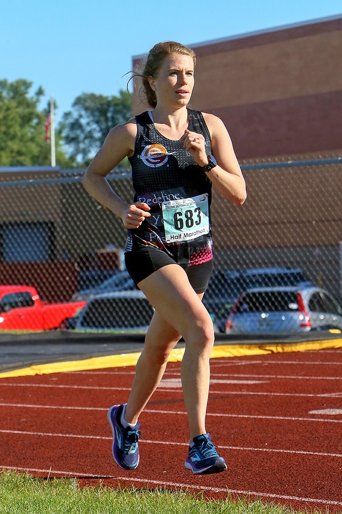 Jessica Hackman of Madison was the overall female winner in the Half Marathon
