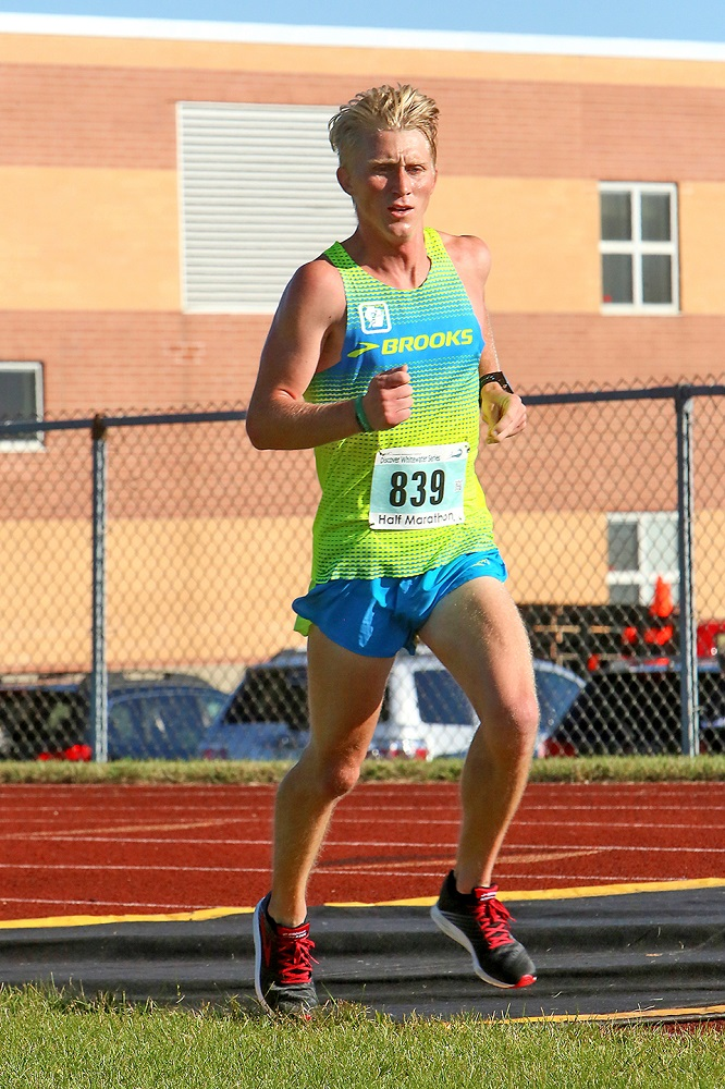 John Dewitt of Milwaukee was the overall winner in the Half Marathon
