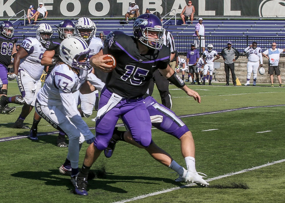 Sophomore quarterback Zach Oles completed 2 passes for 42 yards and 1 TD. He also rushed 6 times for 66 yards and 1 TD.
