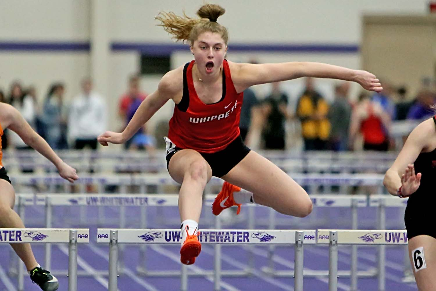 Emme Bullis was 6th (out of 28) in the 55 Meter Hurdles.