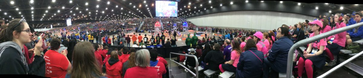 A wide angle view of all 6 competition fields in the Cobo Center.jpeg