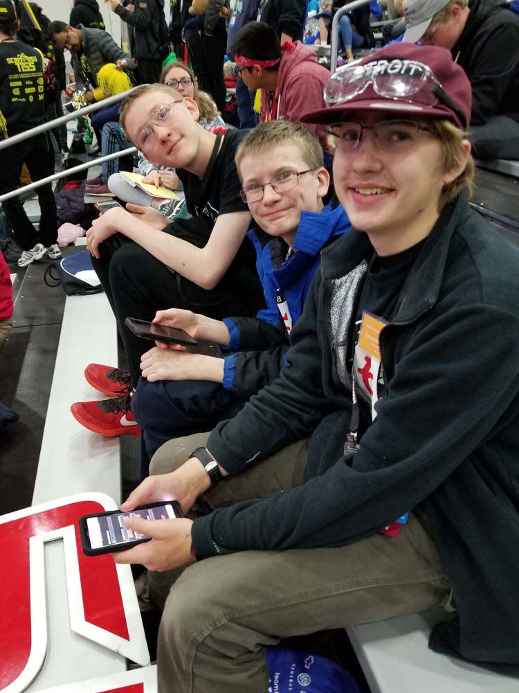Students take turns scouting other teams using our app