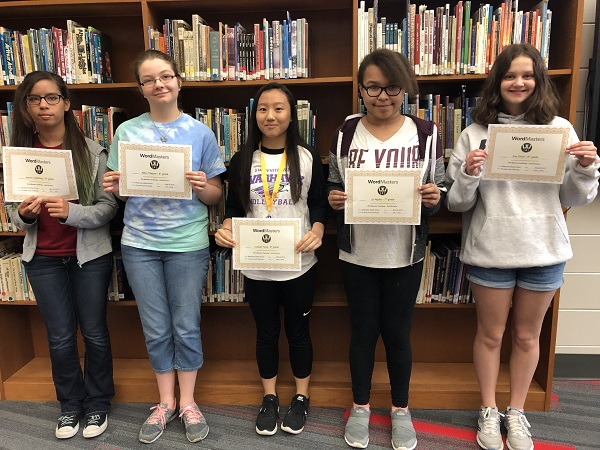 Students display awards