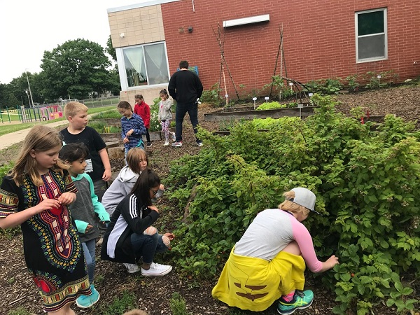 Our new Gardening for Kids course. The radishes were kind of spicy!