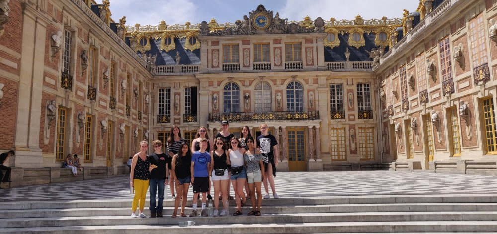 Admiring the beauty of Versailles