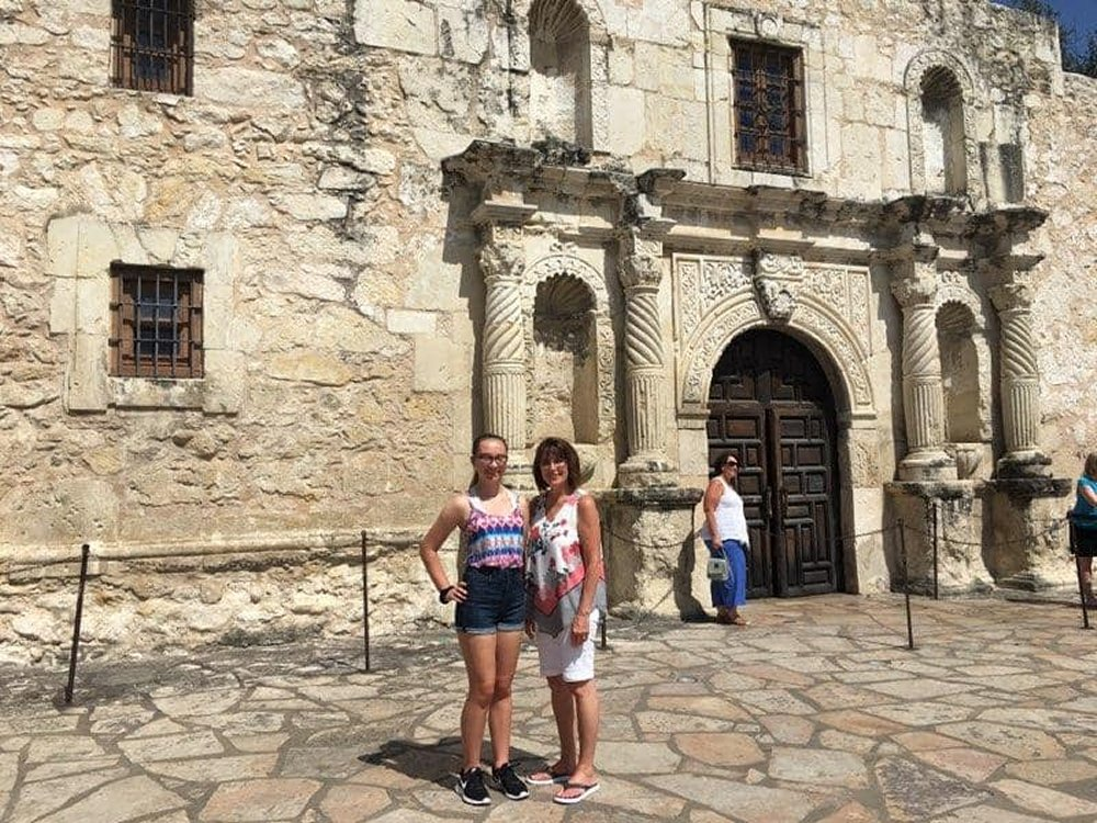 The Alamo with Retired Advisor Mrs. Cindy Teal