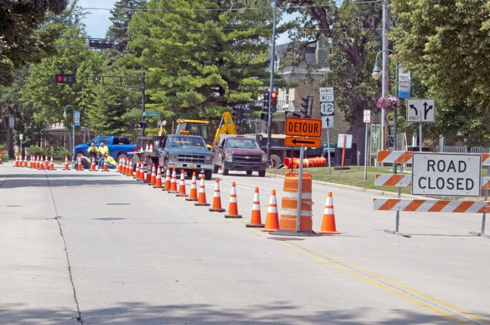 Main & Franklin Pavement Project 8-5-19 - facing WEST on Main Street