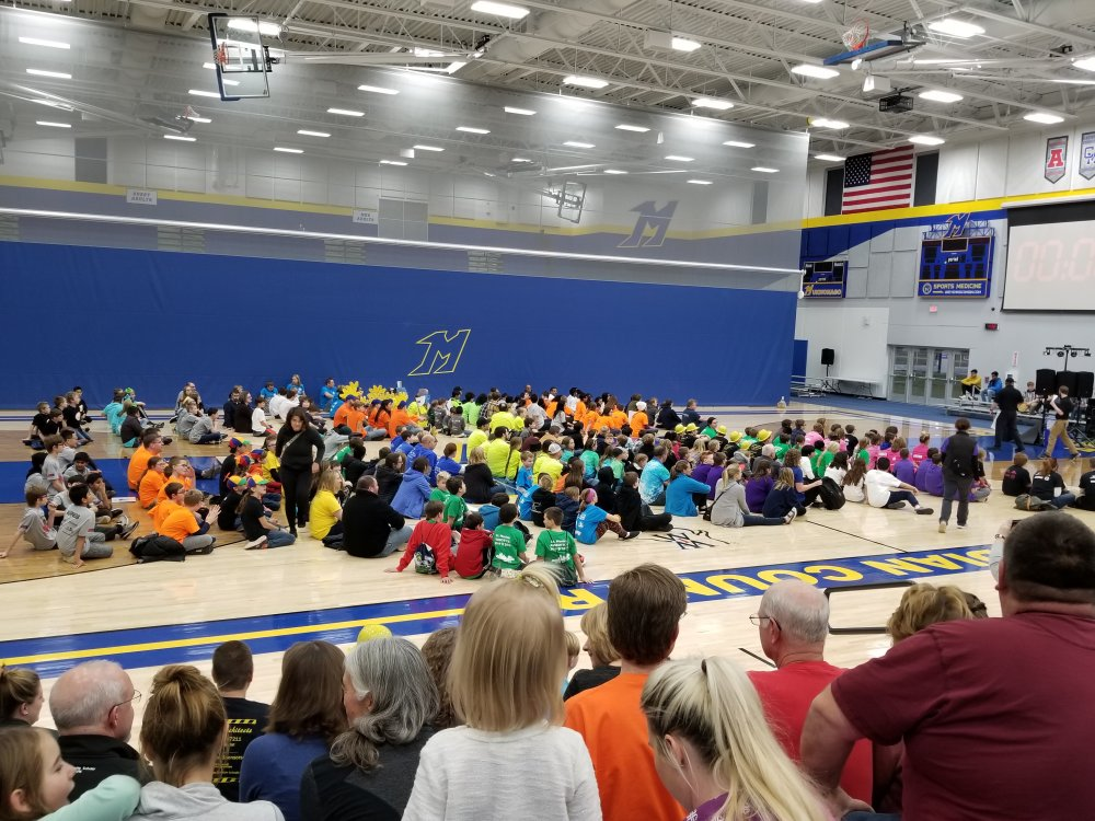 It is 5 pm and the Participants Gather in the Gym for Awards