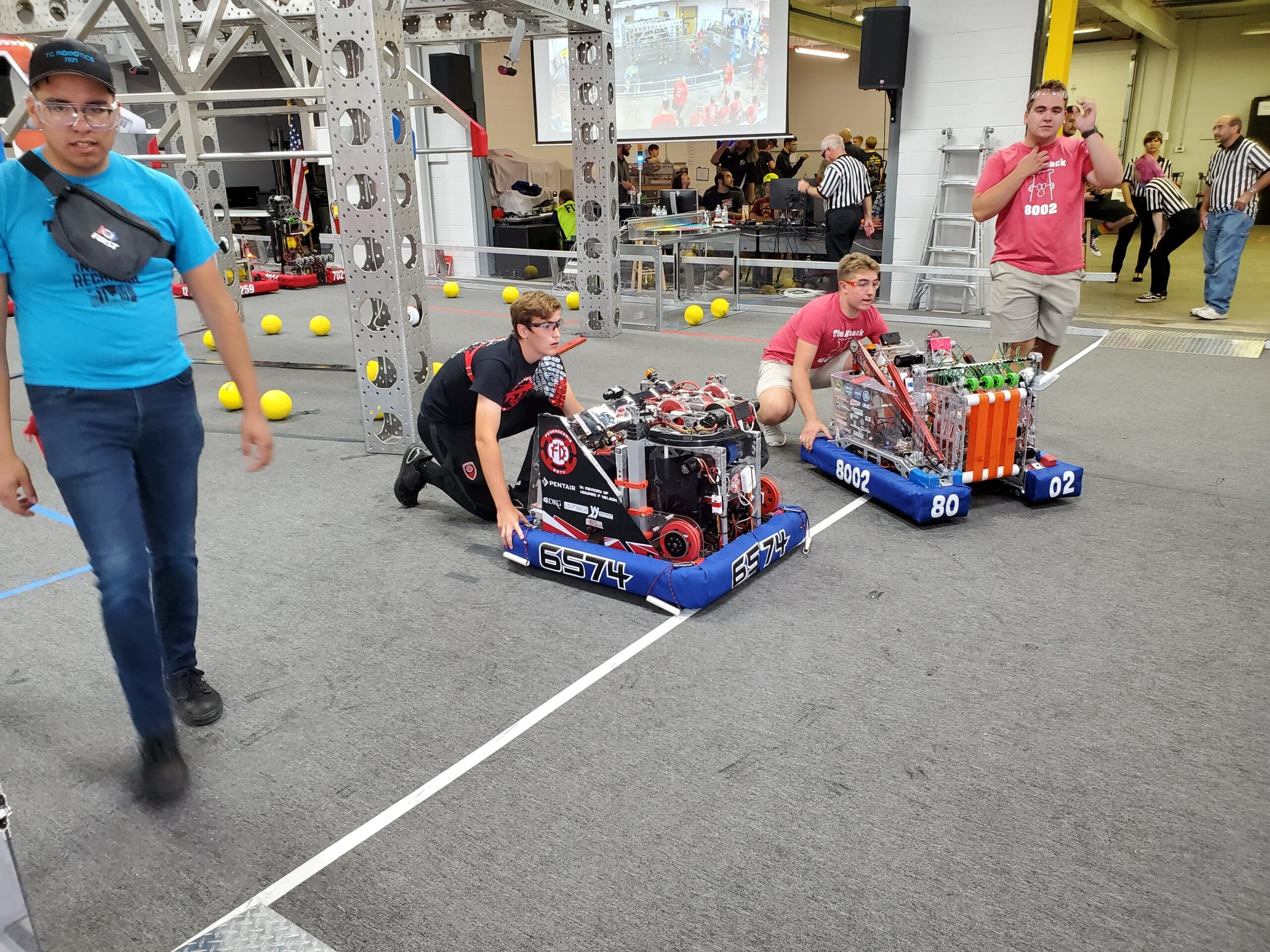 Lining Up the Robot for the Autonomous Portion of a Match
