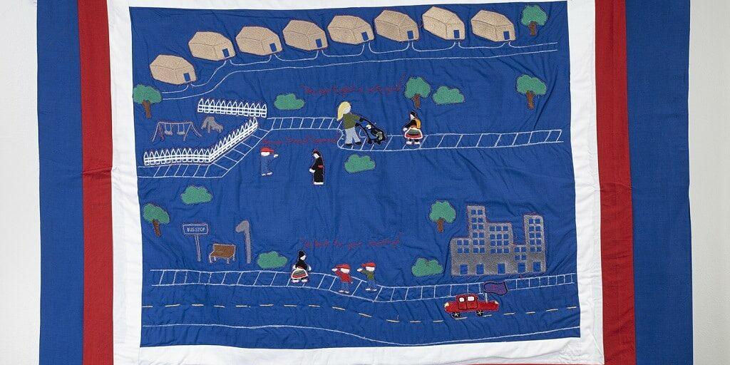 Blue tapestry - Ger Xiong - BFA Metals Alum