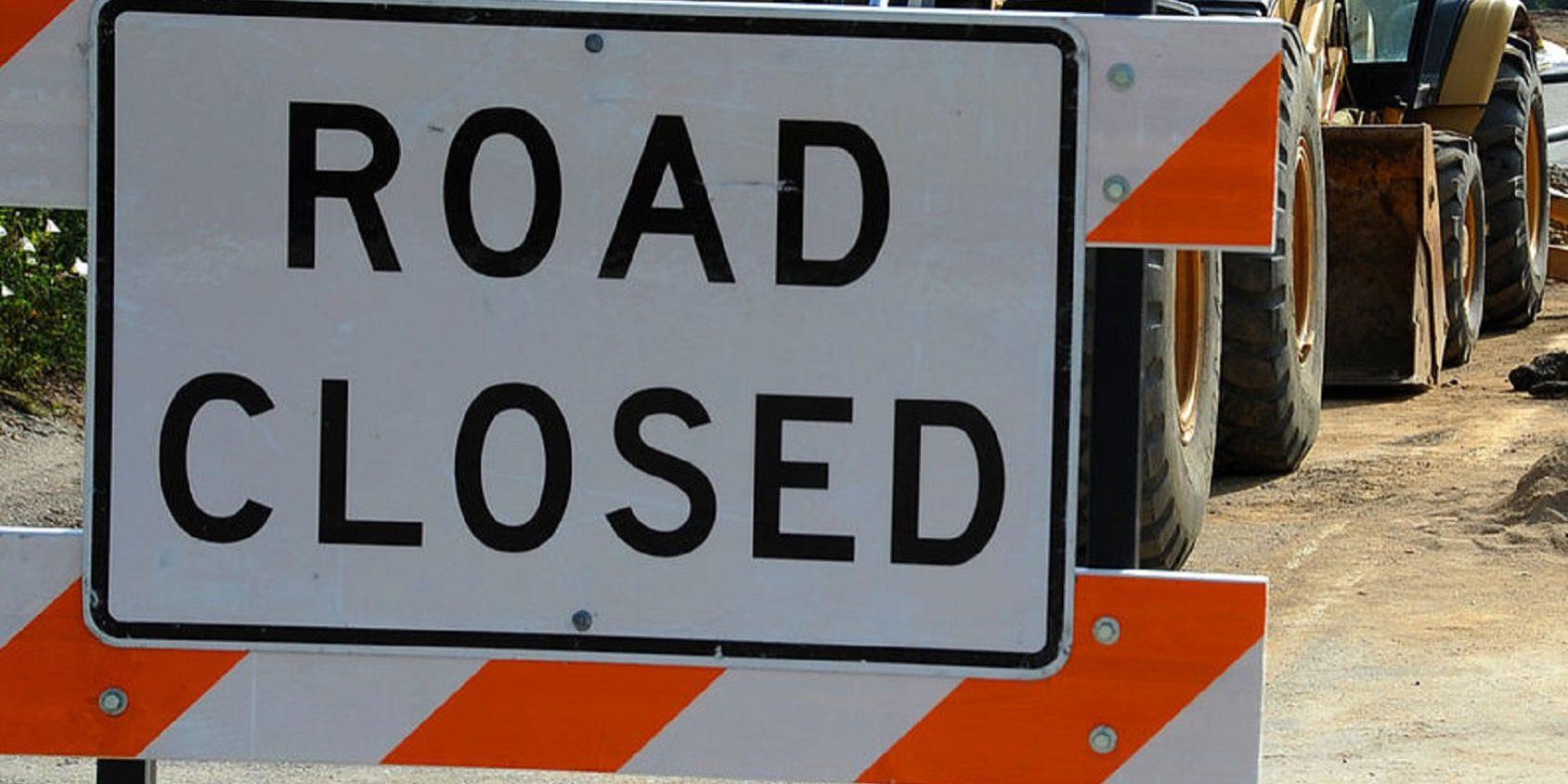 road closed crop